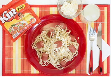 Spaghetti con Salchicha KIR